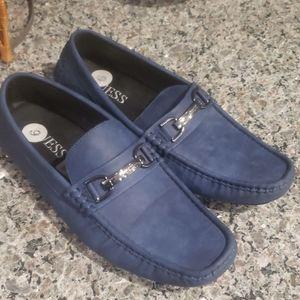 Blue womens' flat shoes